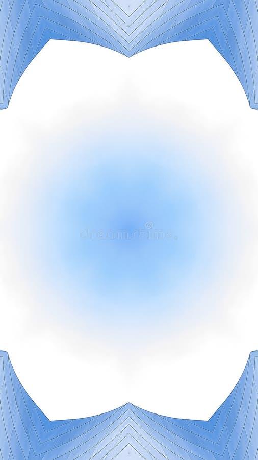 Verticale Exemplaarruimte in het midden van hoekig metaal stock afbeeldingen