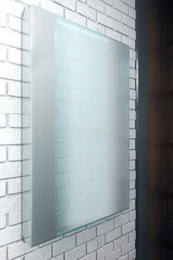 Verticale glasplaat stock illustratie