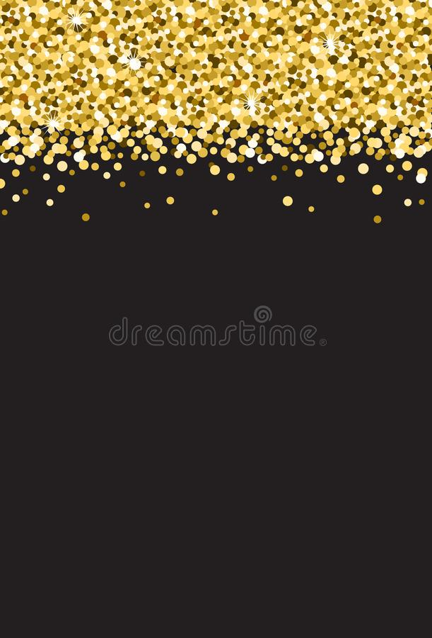 Verticale Gouden Flikkeringsfonkeling op Zwarte Vector Als achtergrond 1 vector illustratie