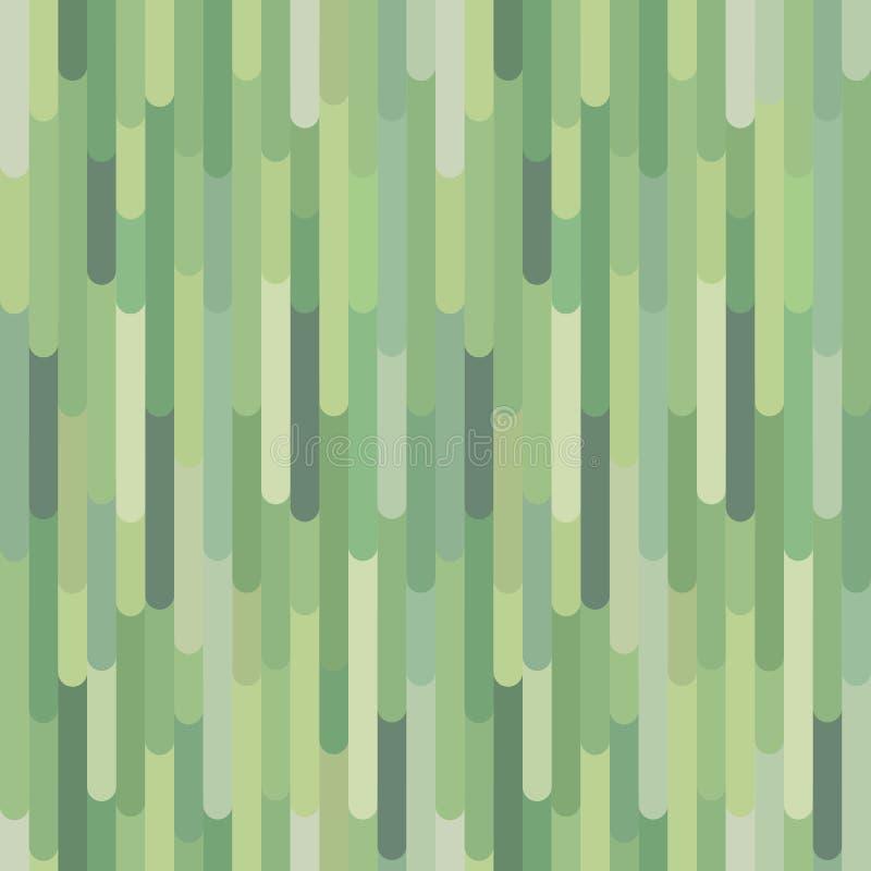 Verticale groene organische strepen, vector naadloos patroon vector illustratie
