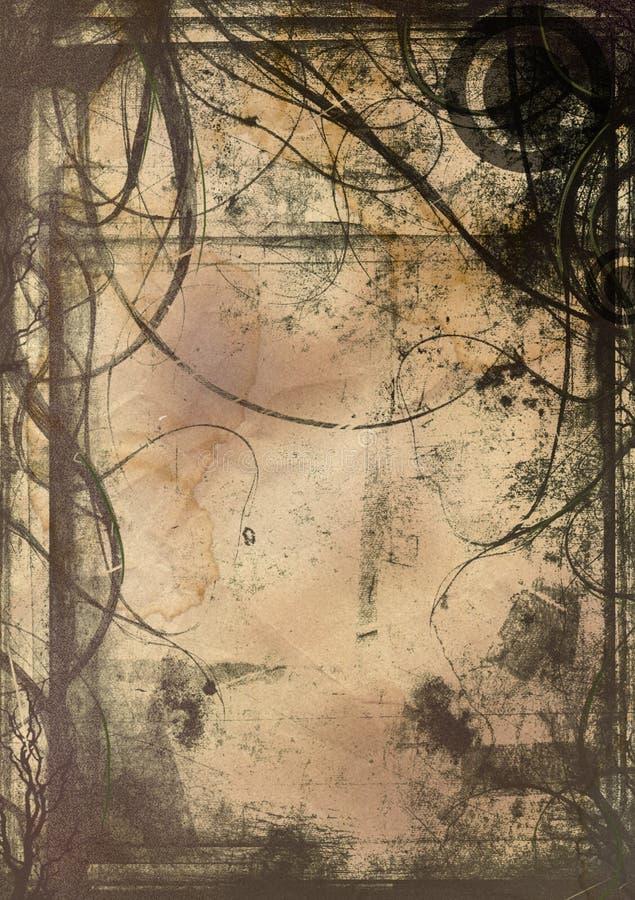 Verticale Grunge Image stock