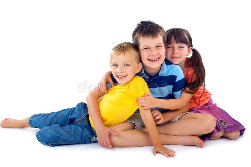 Verticale heureuse d'enfants photo stock
