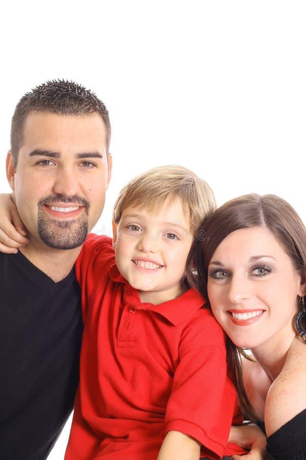 verticale heureuse de famille images stock