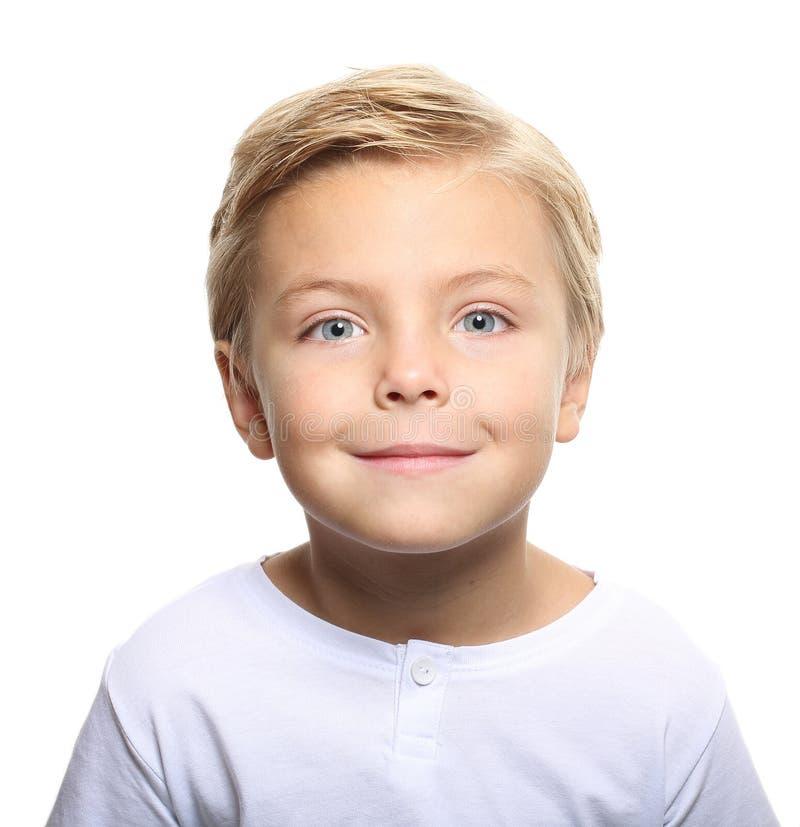Verticale heureuse de petit garçon images libres de droits