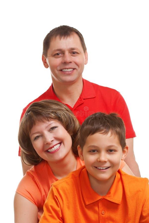 Verticale heureuse de plan rapproché de famille image libre de droits