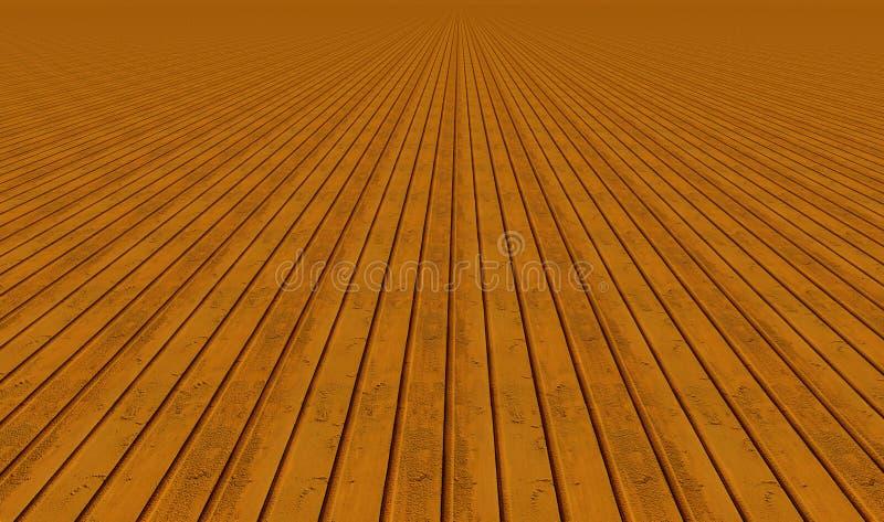 Verticale houten planken stock foto