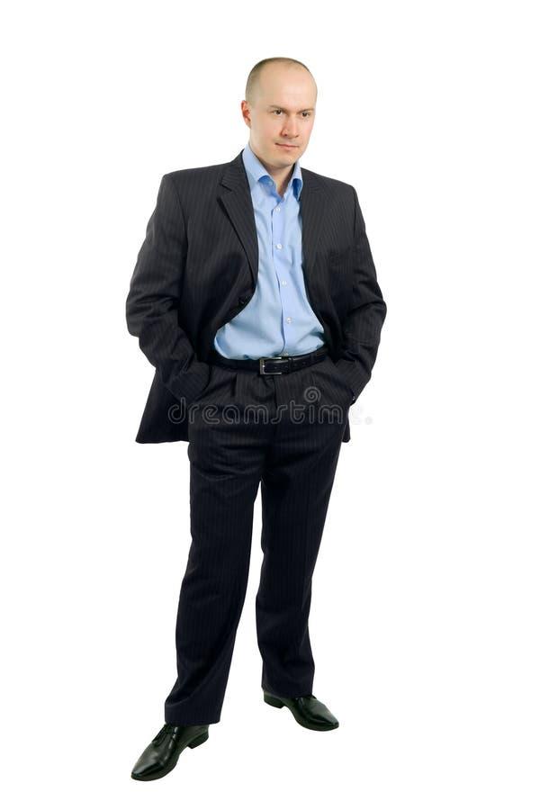 verticale intégrale d'homme d'affaires photos libres de droits
