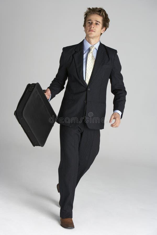 Verticale intégrale d'homme d'affaires images stock