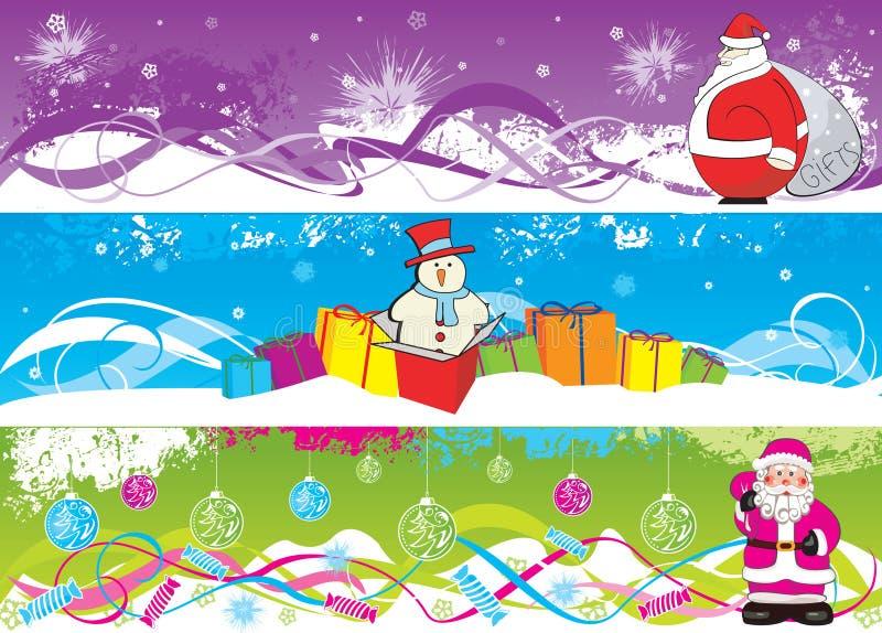 Verticale Kerstmis banne stock illustratie