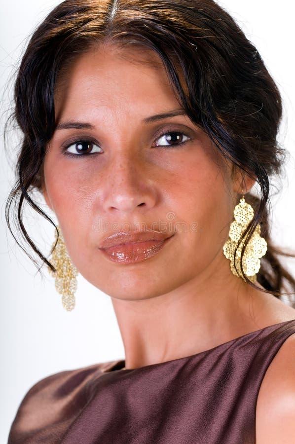 Verticale latine de femme photos stock