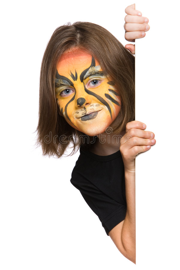 Verticale leeuwbanner stock foto