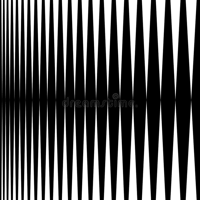 Verticale lijnen, strepen - Parallelle rechte lijnen van dik aan royalty-vrije illustratie