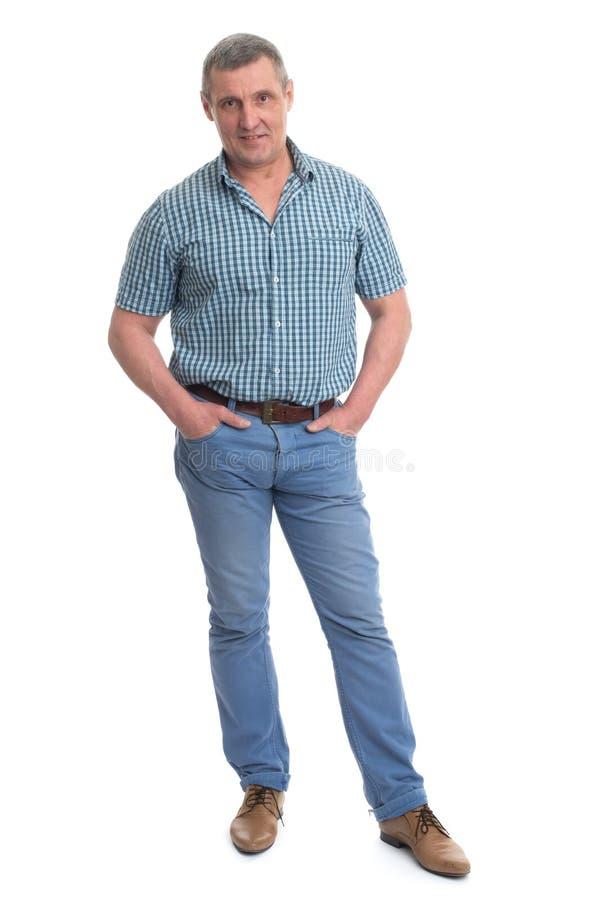 verticale mûre d'homme heureux photos libres de droits
