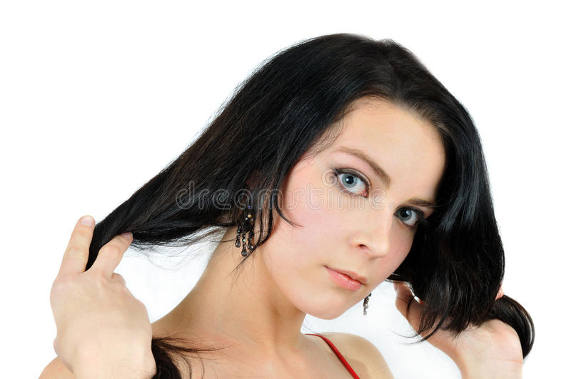 verticale mignonne de beau brunette photographie stock
