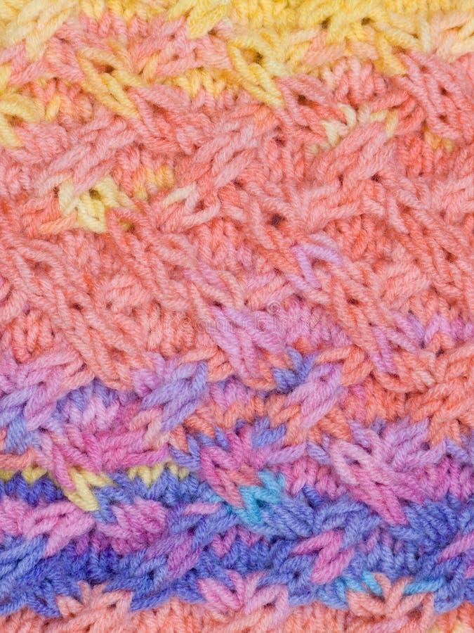 Verticale multicolored gebreide stof royalty-vrije stock foto