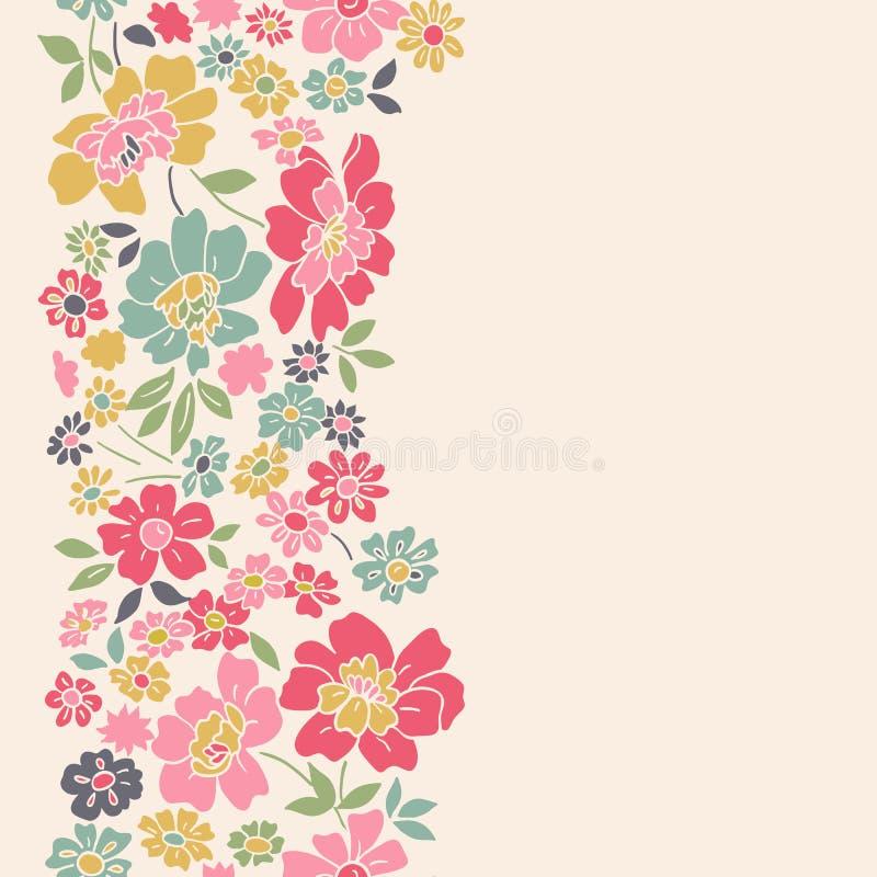 Verticale naadloze bloemenachtergrond. vector illustratie
