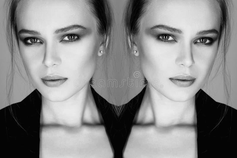 Verticale noire et blanche photos stock
