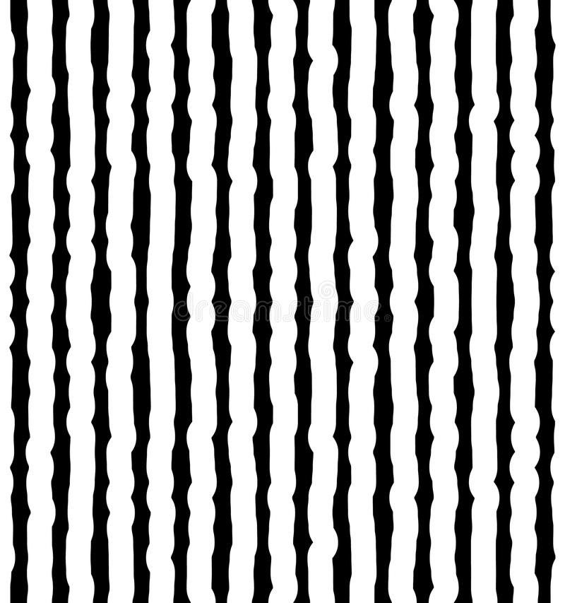 Verticale onregelmatig, hand getrokken lijnen Herhaalbaar patroon stock illustratie