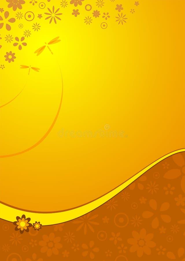 Verticale orange de fleur illustration stock