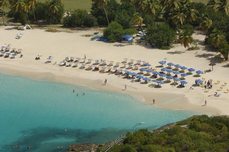 Verticale raamstijlbaai - Heilige Martin - Sint Maarten royalty-vrije stock afbeelding