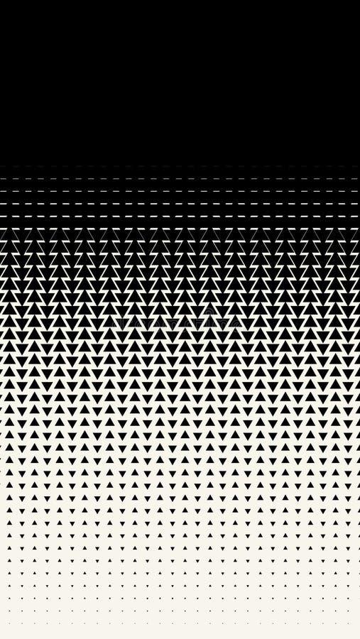 Verticale rechthoekige banner met driehoeken Geometrisch patroon Achtergrond in moderne minimalistische stijl Vector illustratie vector illustratie