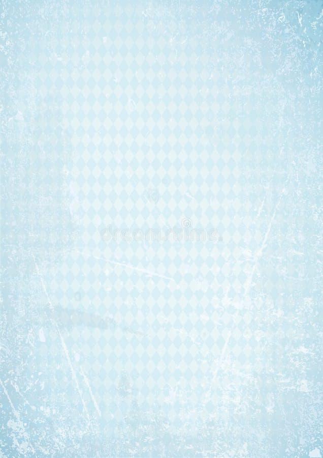 Verticale Retro het Document van Oktoberfest Achtergrond Recht Diamond Pattern Blue stock illustratie