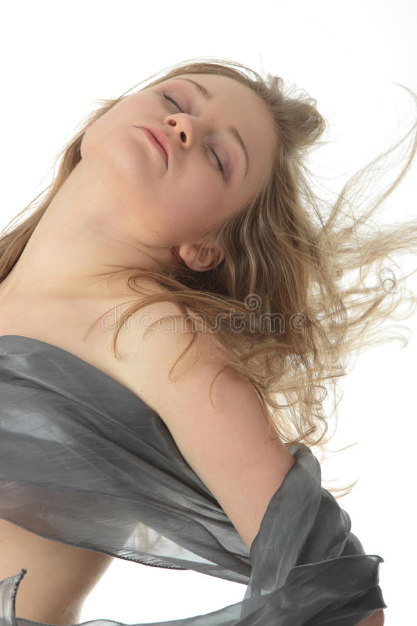 Verticale sensuelle de jeune femme image stock