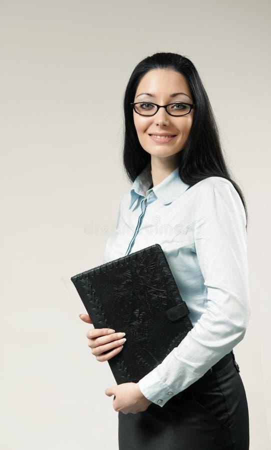 Verticale sexy de femme d'affaires de brunette photos stock