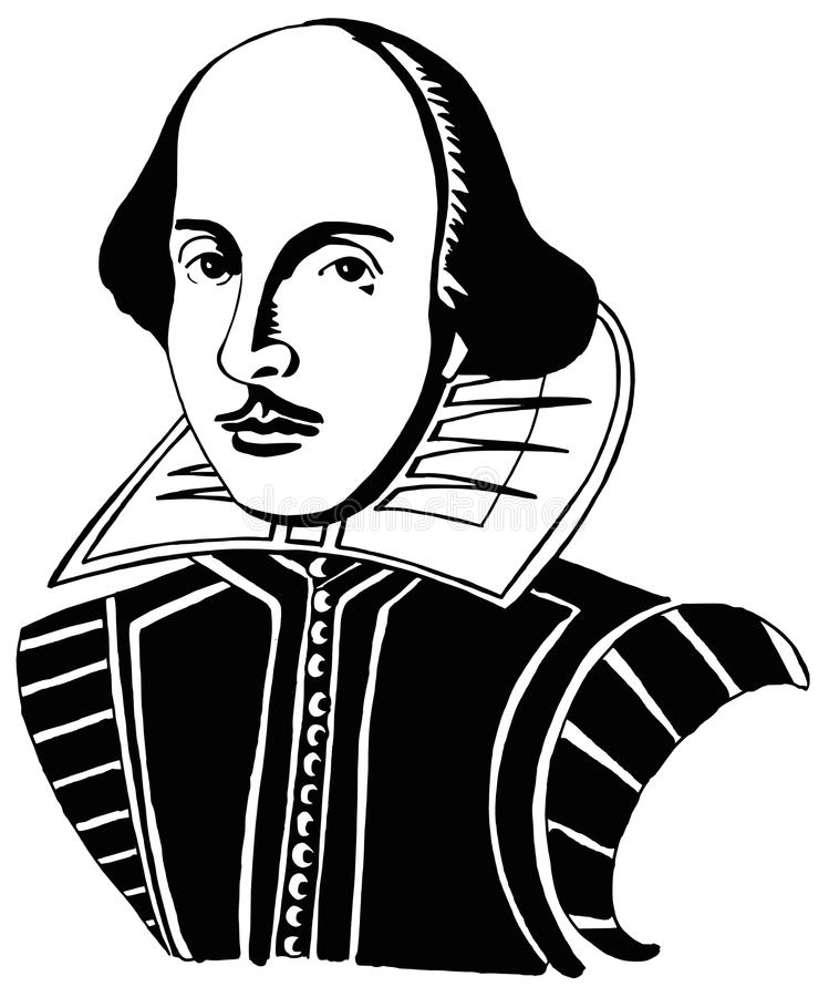 verticale shakespeare William illustration stock