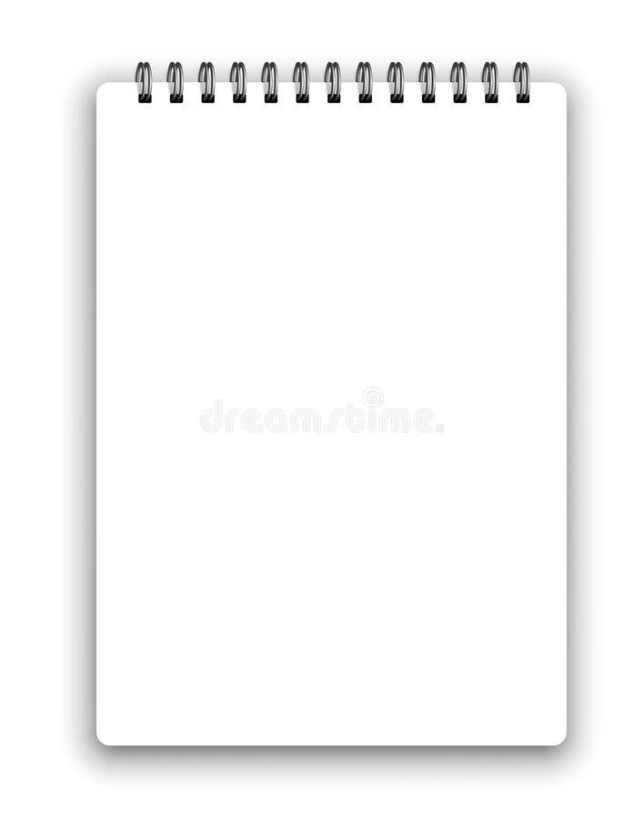 Verticale spiraalvormige blocnote vector illustratie
