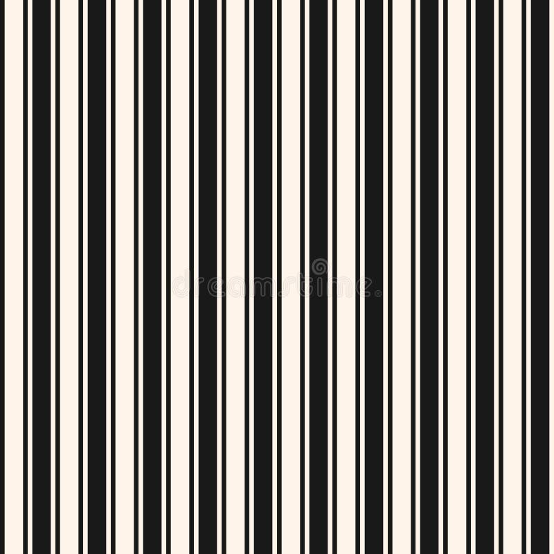 Verticale strepen, lijnen naadloos patroon Eenvoudige geometrische vector vector illustratie