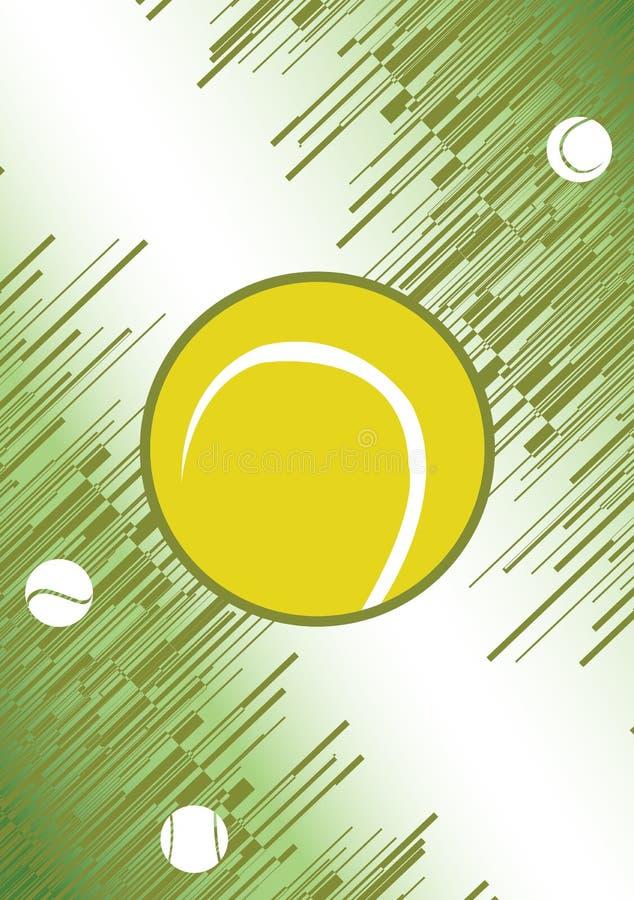 Verticale tennisaffiche Groene Achtergrond Ge?soleerd op witte achtergrond vector illustratie