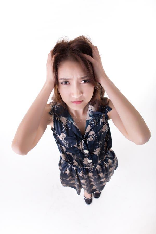 Verticale tha?e active asiatique de la verticale woman images libres de droits