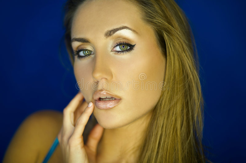 Verticale V de Womans images stock