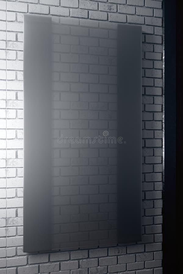 Verticale zwarte glasplaat royalty-vrije illustratie