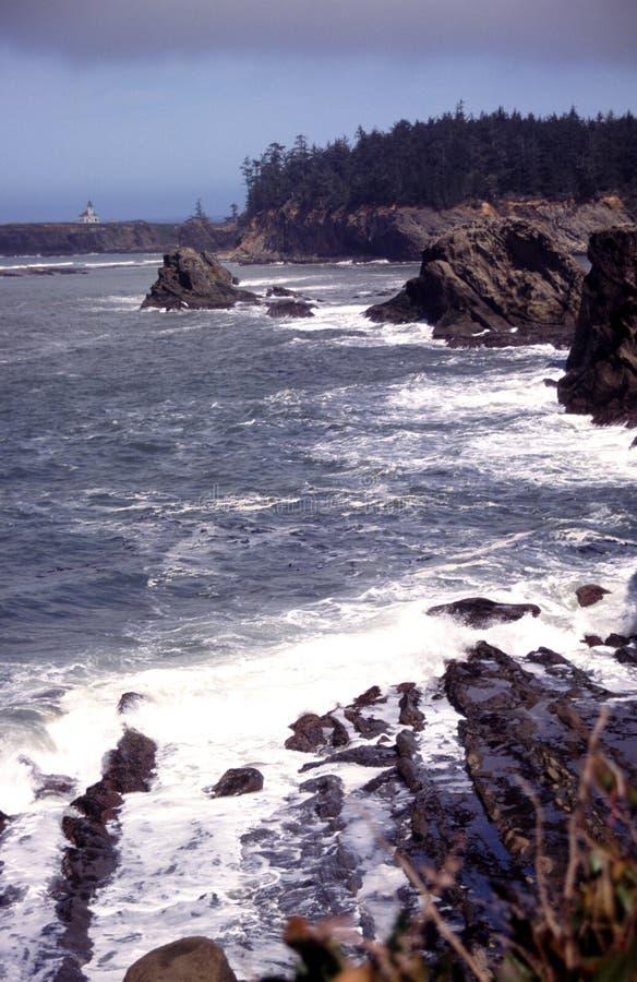 Verticales de côte de l'Orégon photographie stock