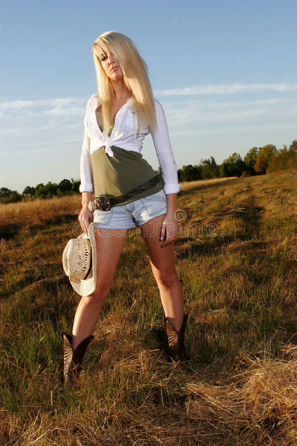 Verticales de cow-girl photographie stock libre de droits