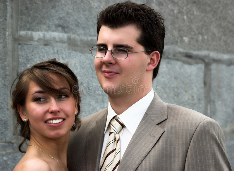 Verticales de mariée et de marié image stock