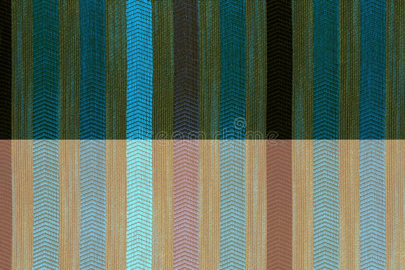 Vertically striped flat polyester upholstery texture and background royalty free stock photos