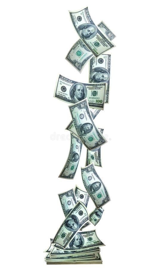 Verticle da bandeira do dinheiro imagem de stock royalty free