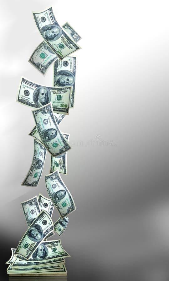 Verticle de la bandera del dinero fotografía de archivo libre de regalías