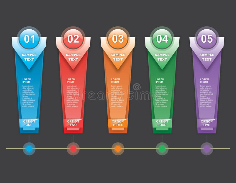 Vertical Steps Infographics stock photography