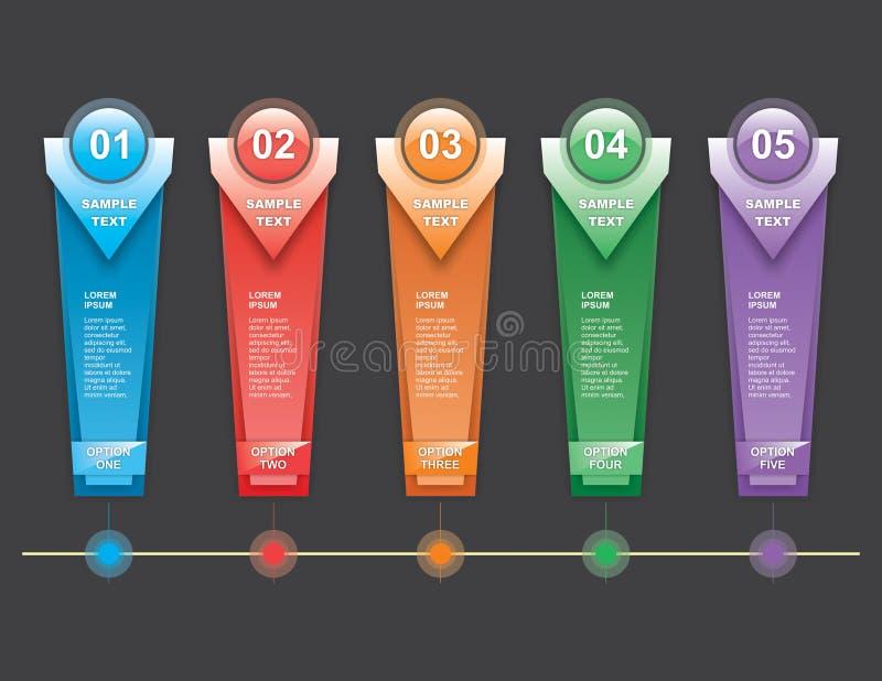 Verticlestappen Infographics vector illustratie