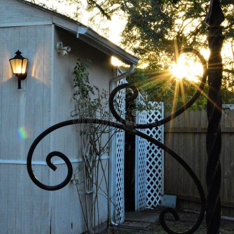 Vertiente en la puesta del sol fotografía de archivo libre de regalías