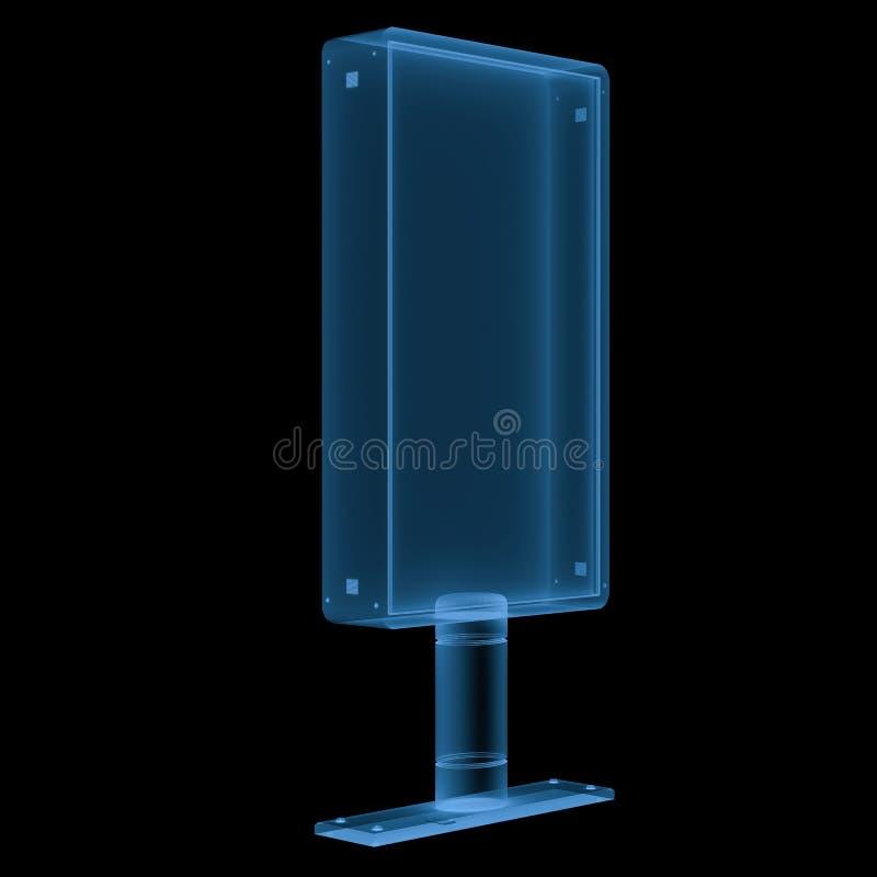 Vertikal affischtavla för stråle som x isoleras på svart vektor illustrationer