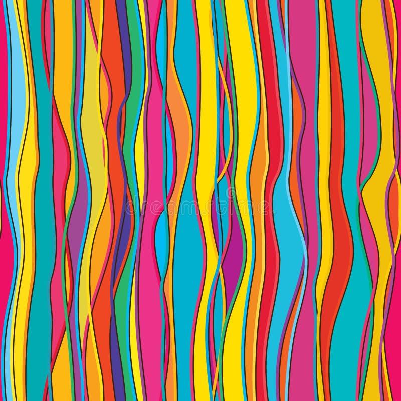Vertikal färglinje sömlös modell för påfyllning vektor illustrationer