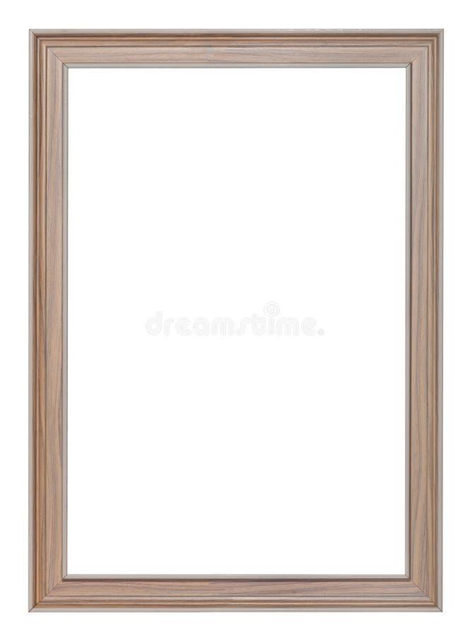 Vertikal modern målad träbildram arkivfoton