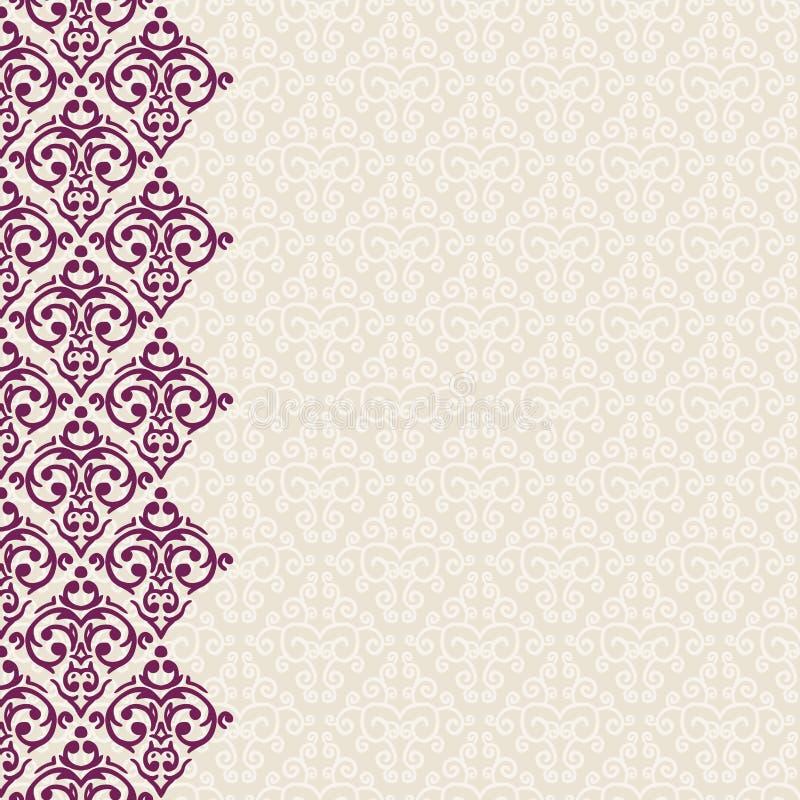 Vertikal nahtloser barocker Hintergrund lizenzfreie abbildung