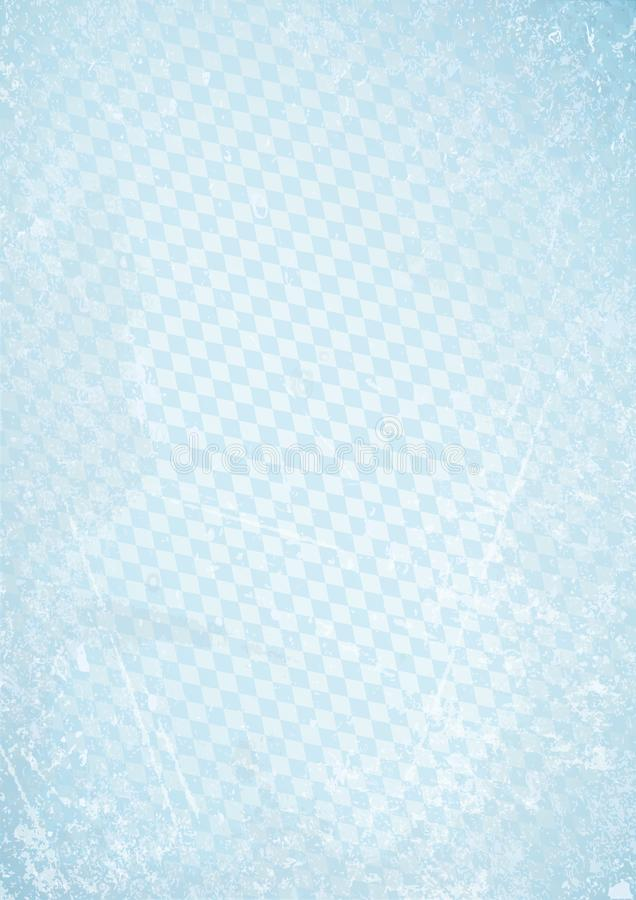 Vertikal Oktoberfest Retro pappers- bakgrund diagonala Diamond Pattern Blue royaltyfri illustrationer