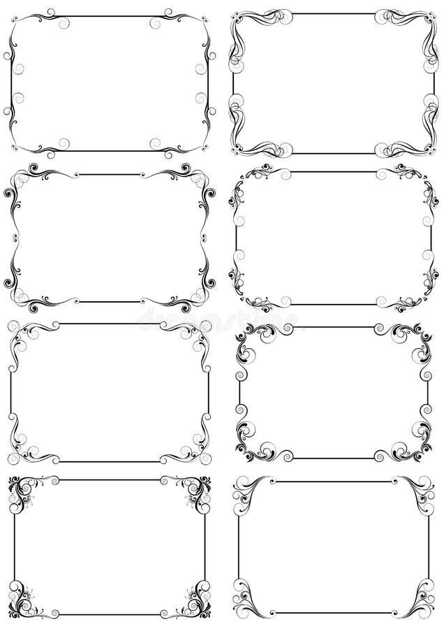 Vertikal ramuppsättning royaltyfri illustrationer